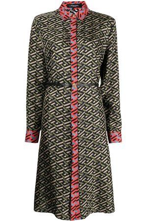 VERSACE Damen Freizeitkleider - Hemdkleid mit Greca-Print