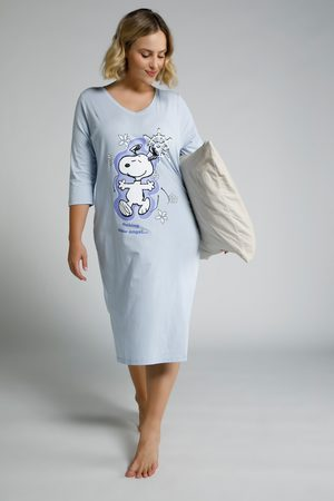 Ulla Popken Damen Schlafanzüge - Bigshirt, Damen