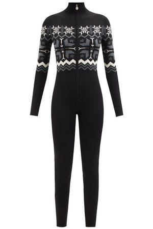 Perfect Moment Damen Jumpsuits - Fair Isle Merino Base-layer Jumpsuit