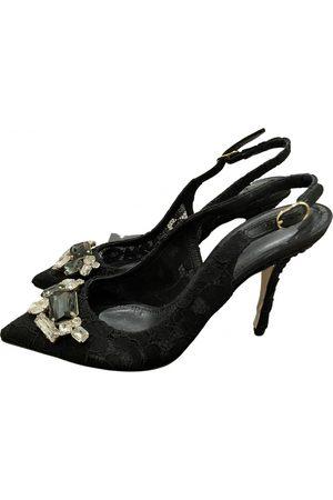 Dolce & Gabbana Leinen Sandalen