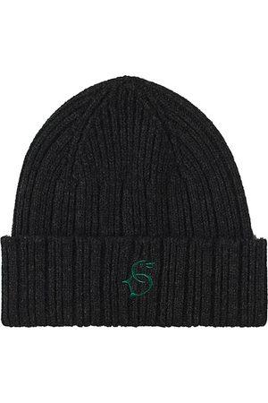 Drake's Herren Hüte - Geelongora Beanie Hat Dark Grey