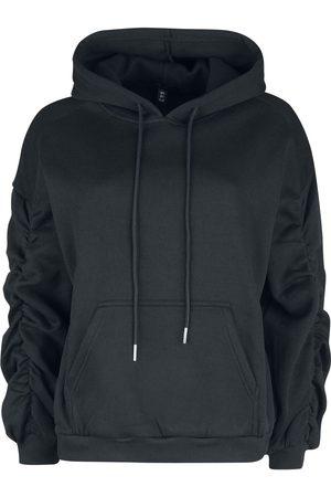 QED London Damen Sweatshirts - Ballon Sleeve Front Pocket Hoodie Kapuzenpullover