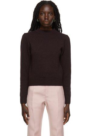 DRIES VAN NOTEN Burgundy Wool Crewneck Sweater