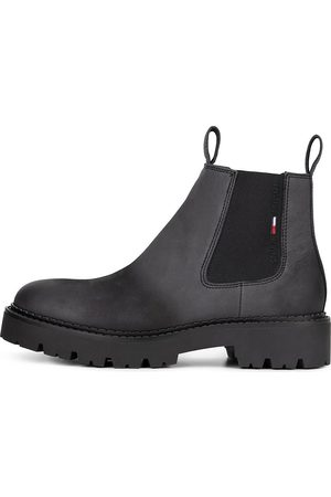 TOMMY-JEANS Chelsea Boots Brushed Chunky in dunkelgrau, Boots für Herren
