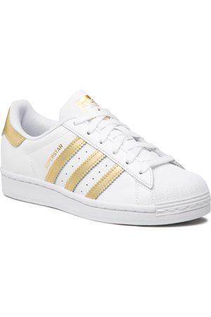 adidas Damen Schuhe - Superstar W FX7483 Ftwwht/Goldmt/Ftwwht
