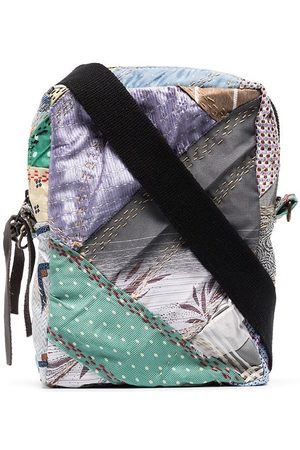 BY WALID Zahra patchwork messenger bag