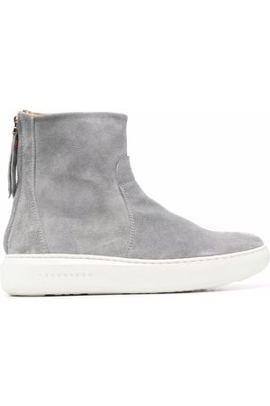HENDERSON BARACCO Suede platform ankle boots