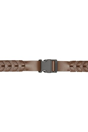 Stella McCartney Brown Faux-Leather Braided Belt
