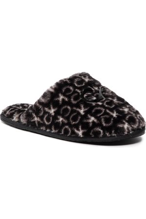 Calvin Klein Slipper Mule Fur Mono HW0HW00536 Black Mono 0GK