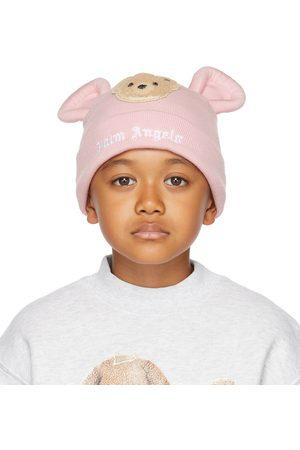 Palm Angels Kids Pink Bear Beanie