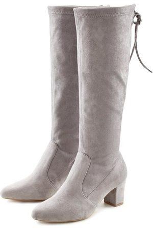 Lascana Stiefel aus elastischem Stretchmaterial mit Langschaft und Blockabsatz