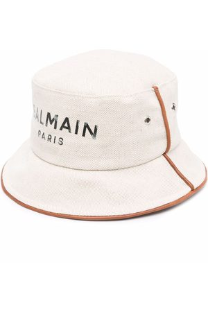Balmain Damen Hüte - Fischerhut mit Logo-Print