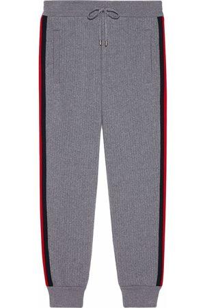 Gucci Herren Lange Sporthosen - Jogginghose mit Webstreifen