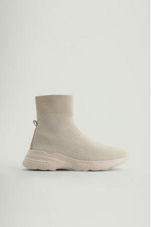 NA-KD Strukturierte Socken-Trainingsschuhe - Offwhite