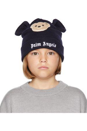 Palm Angels Kids Navy Bear Beanie