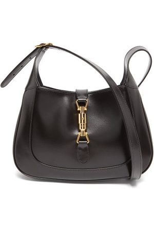 Gucci Herren Reisetaschen - Logo-engraved Clasp Leather Shoulder Bag