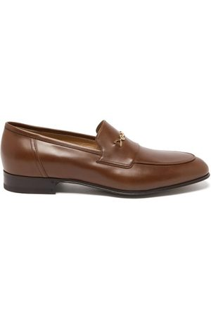 Gucci Ed Horsebit Leather Loafers
