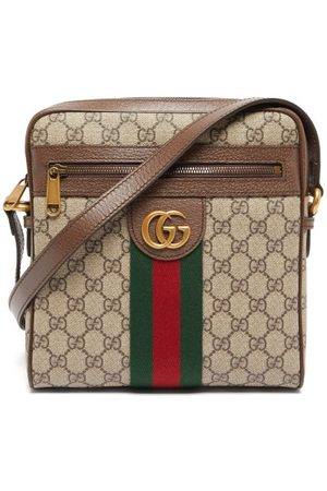 Gucci Gg-jacquard Coated-canvas Cross-body Bag