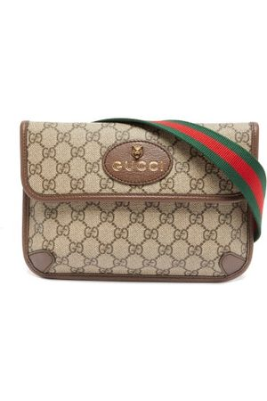 Gucci Gg-jacquard Coated-canvas Shoulder Bag