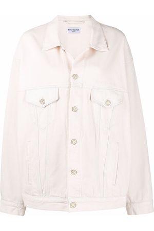 Balenciaga Damen Jeansjacken - Oversized washed denim jacket